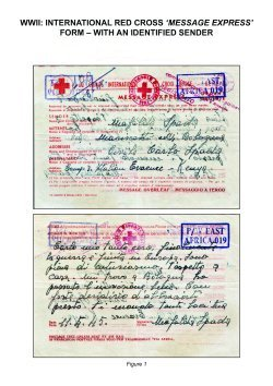 WWII: International Red X Form with an Identified Sender